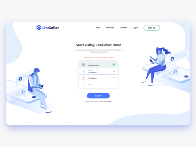 LiveCaller Web Design