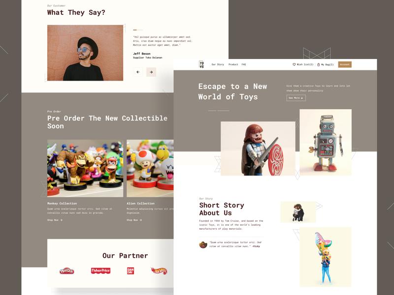 E-Commerce Website for Toys Brand shopify theme shopify strategy clean visual design fresh brand toys website landingpage ecommerce concept ux ui uiux