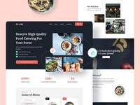 Exploration Day | M0MI Catering Website shopify figma visual design fresh clean red dark ecommerce food catering website landingpage uxdesign ux design ui design uiux ui