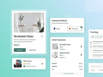 UI Component Exploration | E-Commerce Website card exploration website ecommerce clean ux uiux ui design system design component design component