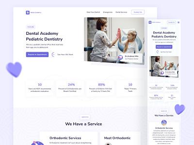 #Exploration-Dental Web Responsive appointment doctor health dentist design uidesign fresh exploration figma clean web dental care responsive uiux ui dental