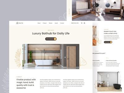 #Exploration-Bathub Website luxury bathroom bathtub ecommerce uiux figma exploration branding website fresh clean landing page ui