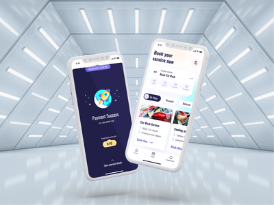 Car Wash and Protection App || Part 2 mobile product design design unique appstore visual design b2c uiux mockup fresh clean iphone ios automotive figma carwash app design app ux ui