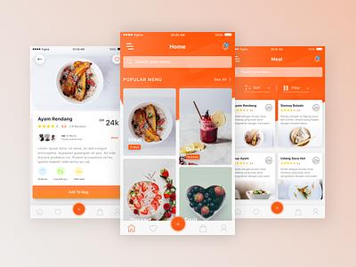 Restaurant App screen app iphone6 clean restaurant ios ux ui exploration