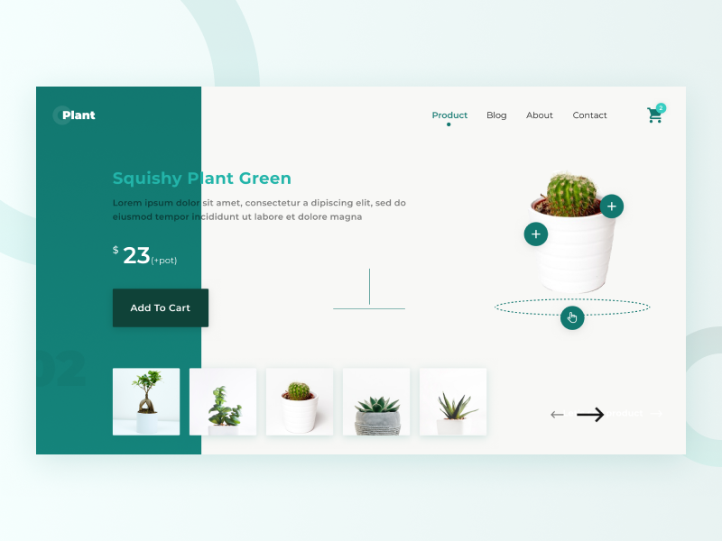 Product Page Plant Website by Dicky Indrayan on Dribbble