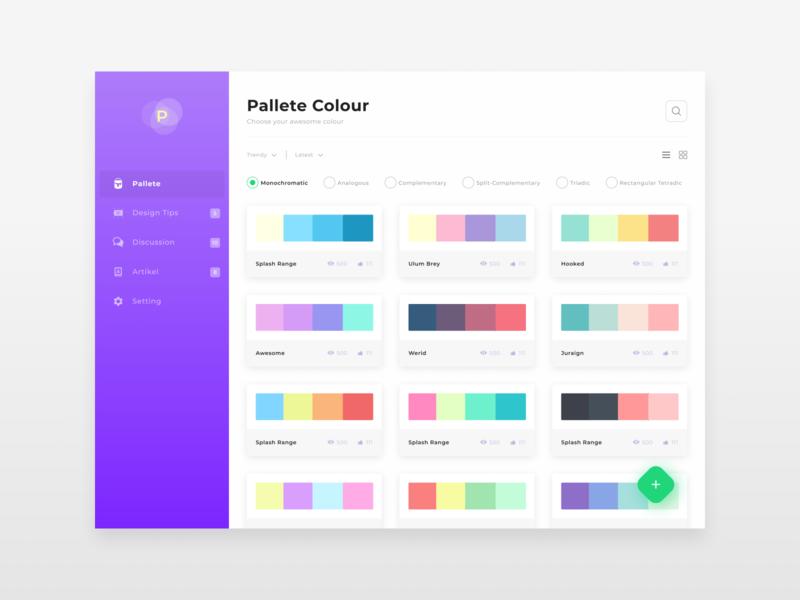 Exploration Dashboard Pallete design website clean figma dekstop app dashboard user experience user interface