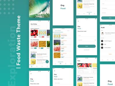 Org Food App flow design thinking case study green clean foodwaste figma ios design app uidesign ux ui  ux design ui