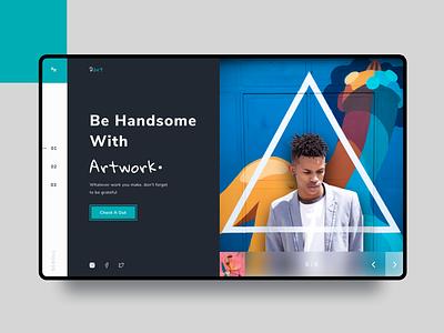 UI Design Exploration || Atwrk Landing Page branding typography web blue design exploration landing page website ui design clean figma uidesign ui
