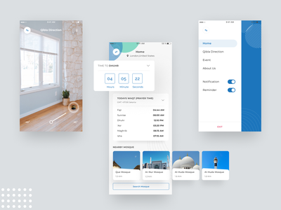 Case Study || Moslem App simple icon design branding art appdesign 2d ios clean figma case study ux ui