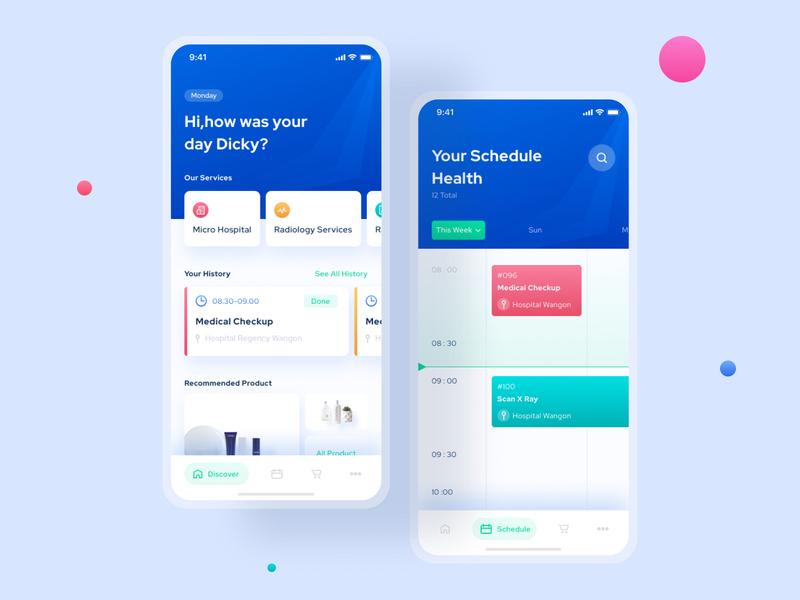 Redesign Concept - CoviderHealth App product design mobile platform redesign iphonex clean fresh healthcare concept green blue ios sketch figma app ux ui