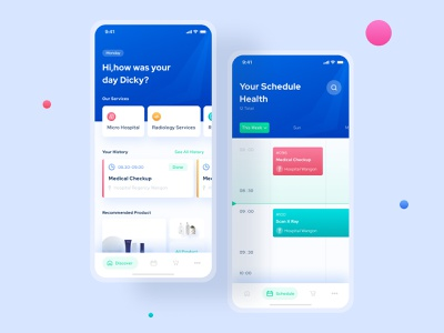 Redesign Concept - CoviderHealth App product design mobile platform redesign iphonex clean fresh healthcare concept green blue ios sketch figma app ux ui