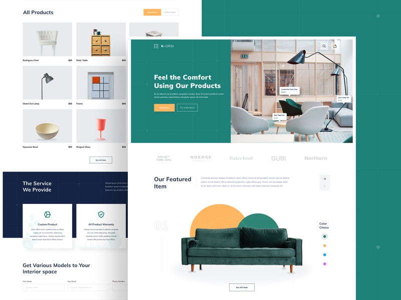E-Commerce Website Concept branding landing page illustration clean design website fresh green research user strategy ecommerce exploration figma ux uiux ui
