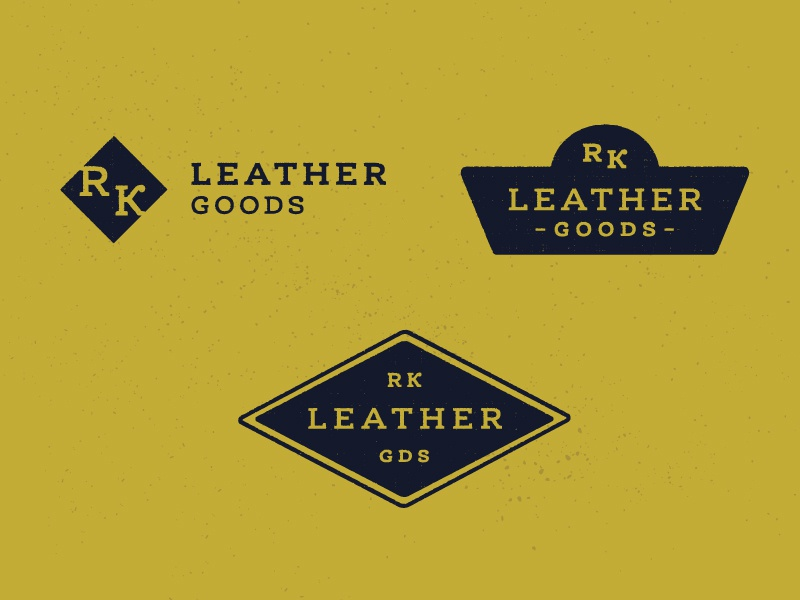 RK Leather Goods leather gold brand badge logo