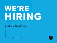 We're Hiring: Graphic Designer(s)