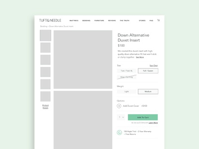 Product Page Wireframe product selector ux page design wireframe