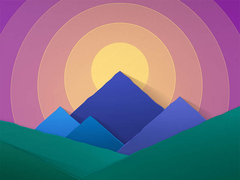 Material Mountains By Andrew Jarecki On Dribbble