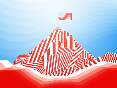Mount America material shapes mountain freebie wallpaper android vector illustration day remembrance