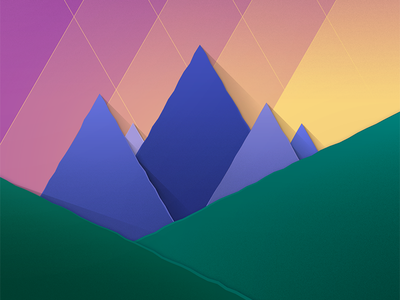 Material Mountains 2 material shapes mountain freebie wallpaper android vector illustration