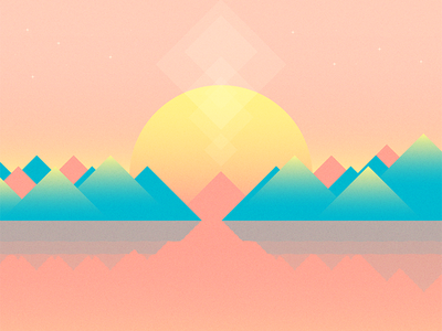 Strawberry Shores peaks shapes mountain freebie wallpaper android vector illustration