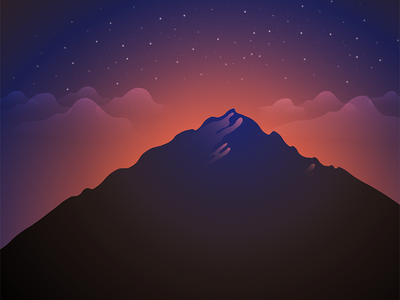 Violet Night violet night shapes mountain freebie wallpaper android vector illustration
