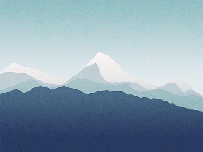 Zen Again zen waves peaks shapes mountain freebie wallpaper android vector illustration
