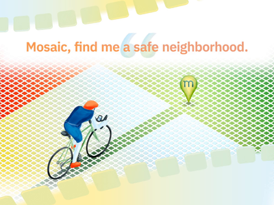 Mosaic Illustrations pastels hand-drawn wacom website video animation illustration