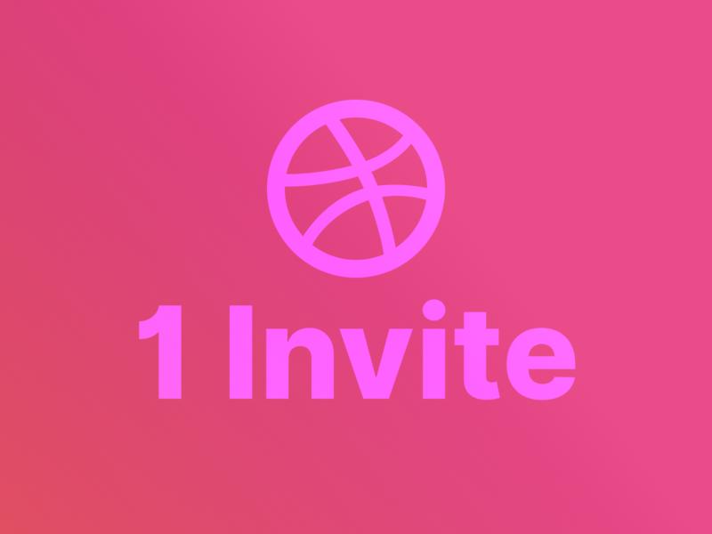 1 Dribbble Invite! dribbble invitation dribbble invite