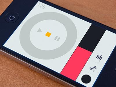 Music App UI iphone ui design
