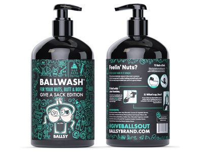 Ballsy Ballwash balls doodle art product design health products character design doodles vector bottle packaging cancer awareness ball wash ballsy
