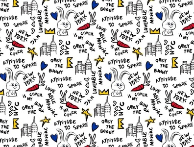 Castelbajac x Secret Life of Pets 2 Doodle pattern golf wear doodle art sketch hand drawn doodles snowball rabbit castelbajac secret life of pets