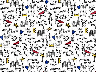 Castelbajac x Secret Life of Pets 2 Doodle pattern golf wear doodle art sketch hand drawn doodles snowball rabbit castelbajac secret life of pets