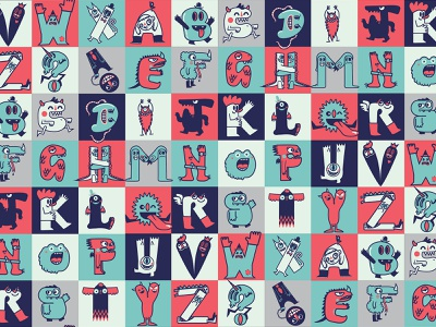 AlphaBeasts monster alphabet alphabet design kids creatures monsters characters typography lettering