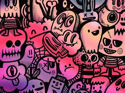 Iridescent Doodle doodle art cute fun black ink bright characters doodles doodle iridescent