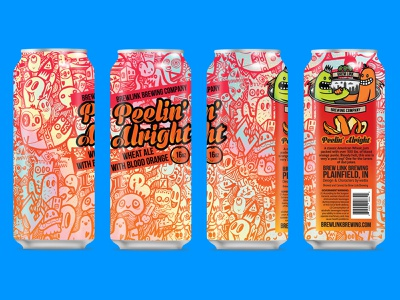 Brew Link Brewing Peelin Alright Can Design wotto beer can doodle vector illustration character design oranges characters craft beer orange doodles beer can design packaging can design beer