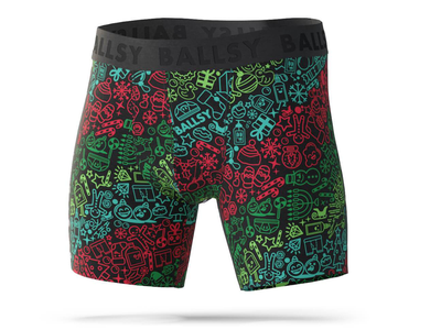 Ballsy Holiday 2020 Boxer Shorts wotto branding design christmas holiday apparel clothing brand design brand identity boxershorts branding underwear