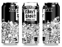 Ebony Stout Can Design