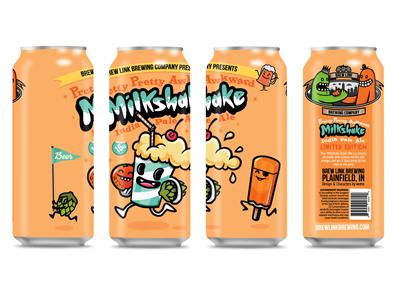 Milkshake IPA Ltd Ed Creamsicle - Can Design running creamsicle cute kawaii craft beer milkshake beer design beer can beer