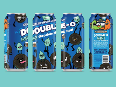 Double O Chocolate Mint Milk Stout Can Design By Wotto76