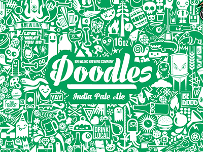 Doodles IPA - Can Design can art packaging ipa doodles can design beer can beer