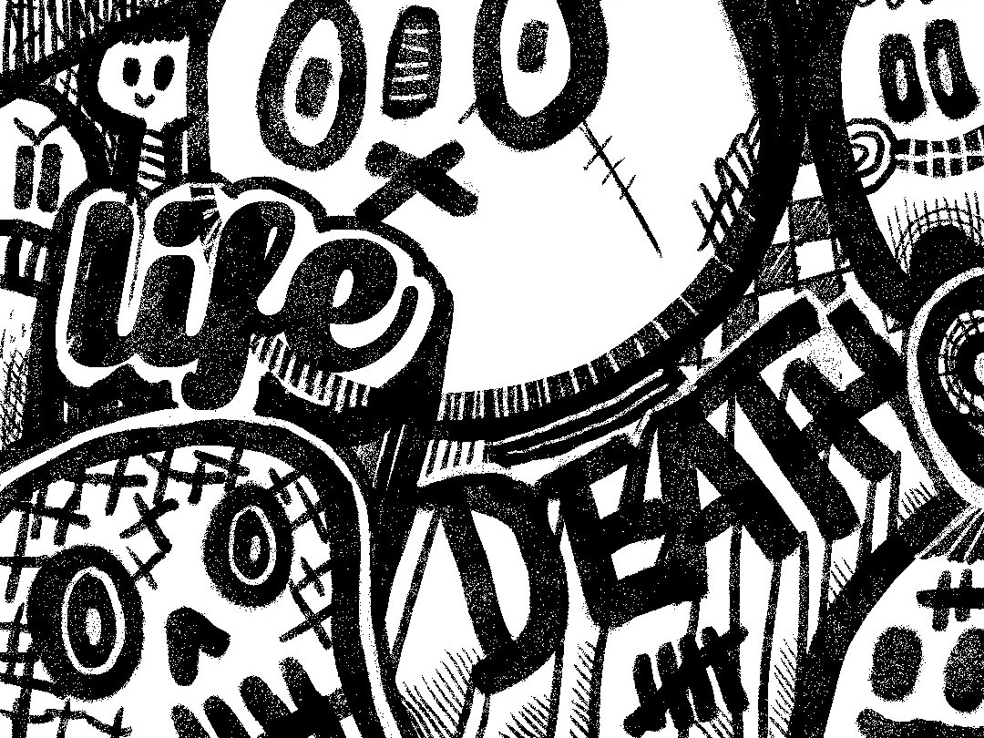Life Death Doodle Xerox Characters Character Art Doodleart Doodles Black And White