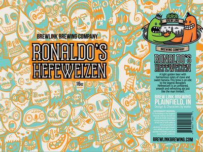 Ronaldo's Hefeweizen - Can Design beer branding branding character design craft beer packaging design beer can design beer can beer