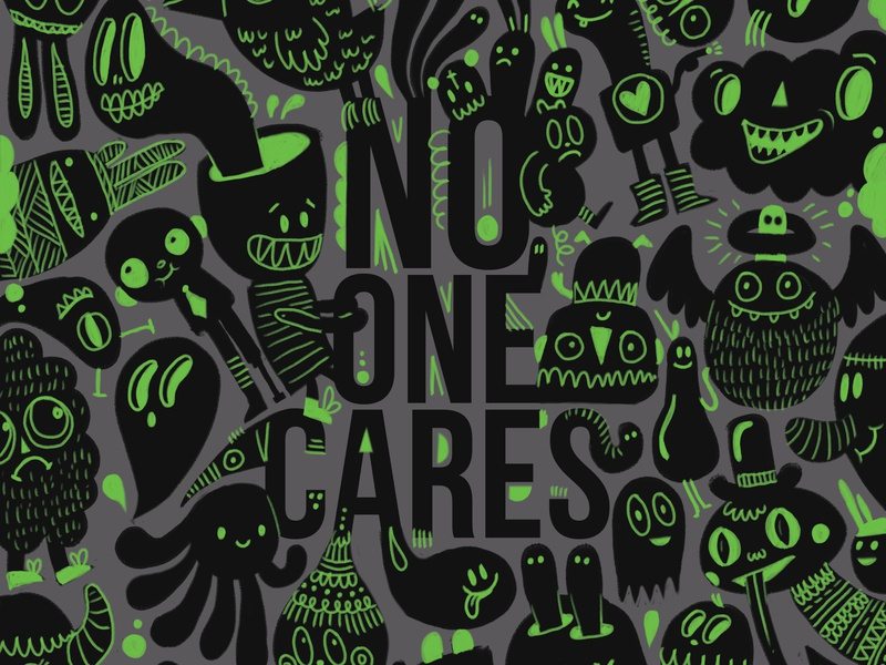 No One cares character design character concept character character art black green doodle art doodle doodles