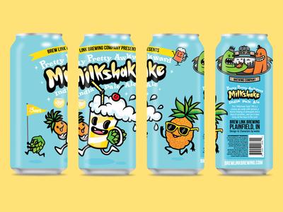 Milkshake IPA Ltd Ed Pineapple - Can Design brewery packaging design beer can can craft beer beer can design ipa pineapple
