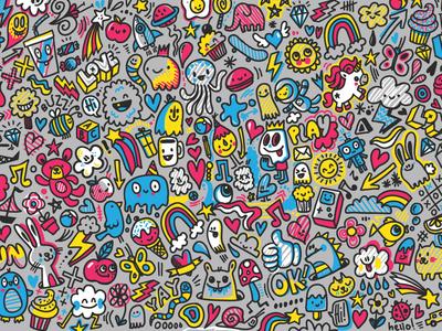 Kids Doodle kid friendly colorful doodle art kawaii cute doodle doodles kids doodle