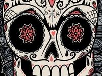 Mexican Skull Tee Design