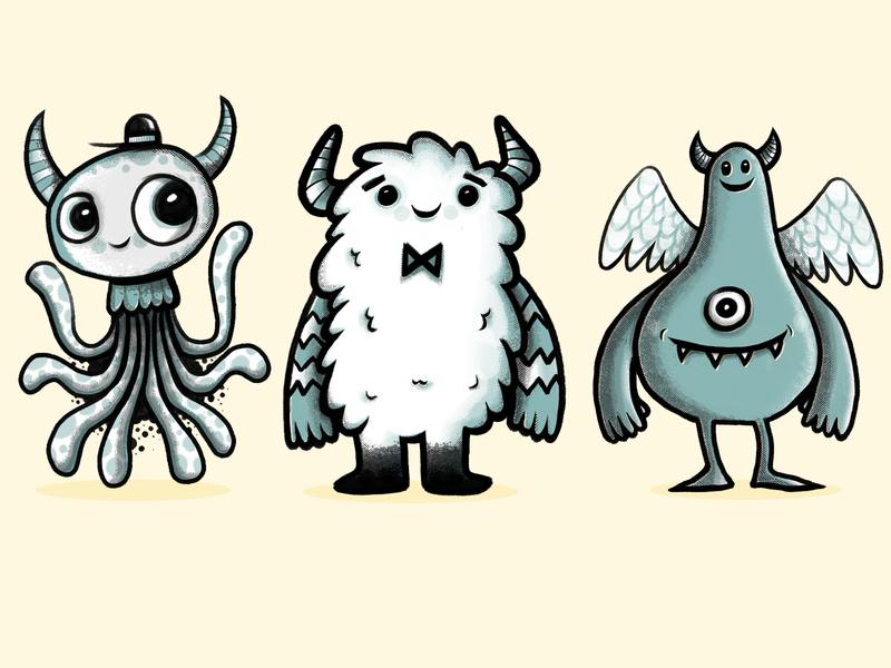 Banangrams Monsters gaming cute monsters monster art design character wotto cute illustration character design characters monsters