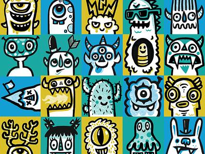 Bananagrams Mini Monsters wotto monster monster art mini monsters character design cute illustration character design characters monster design monsters