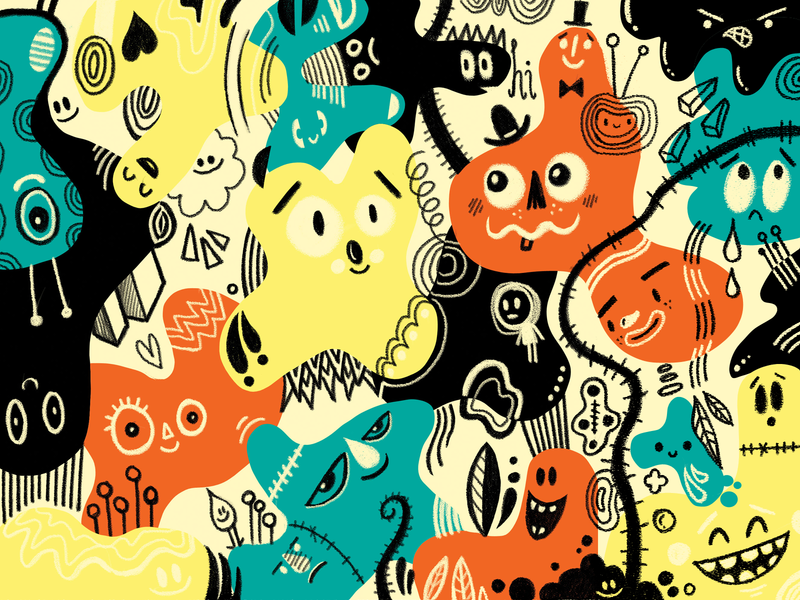 Color Exploration color hand drawn doodle illustration wotto cute character character design characters doodles
