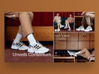 Adidas Falcon | Landing Page Concept