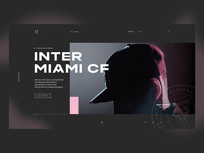 Inter Miami CF  Concept inter miami soccer web design layout concept hero grid ui